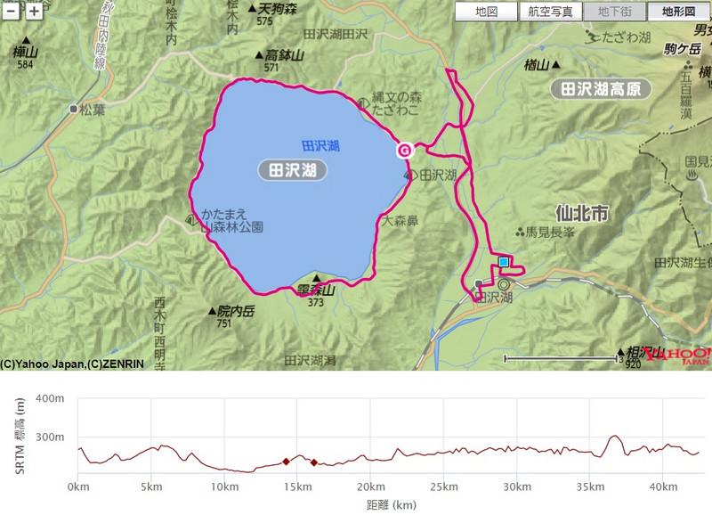 田沢湖マラソン2016