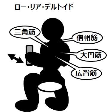 筋トレのマシンと効果(7)ロー・リア・デルトイド