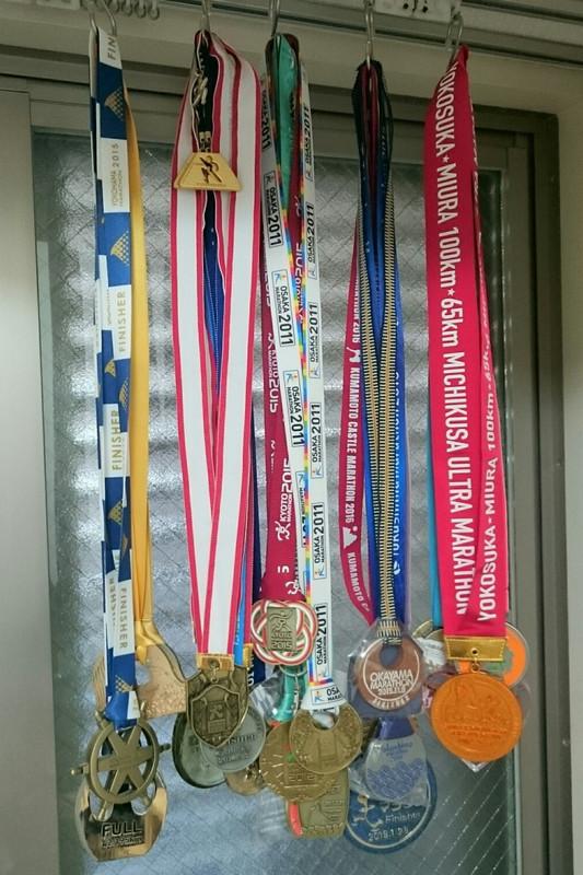 第1回大会の完走メダル~東京・大阪・京都・横浜・静岡・姫路城・岡山