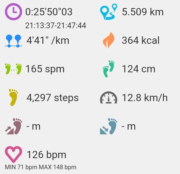 全力で5km走