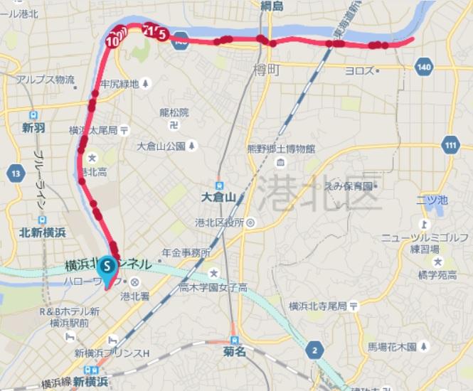 第15回UP RUN新横浜鶴見川マラソン大会
