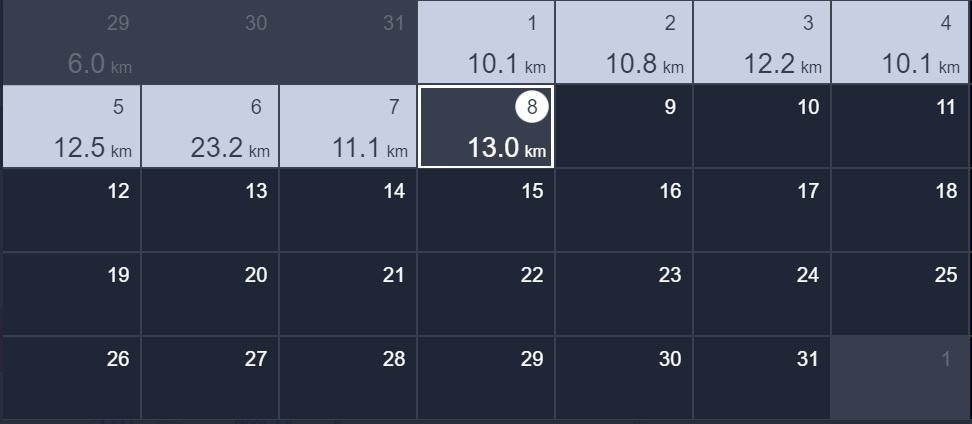 正月から8日間連続、毎日10km以上ラン&ウォーク