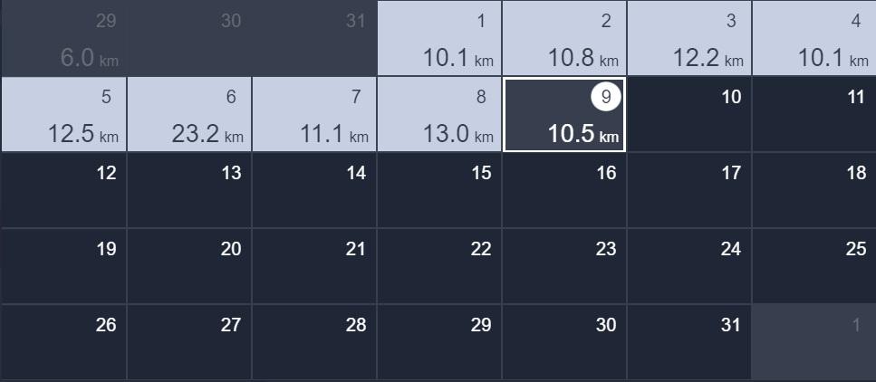 9日間連続で10kmラン&ウォーク