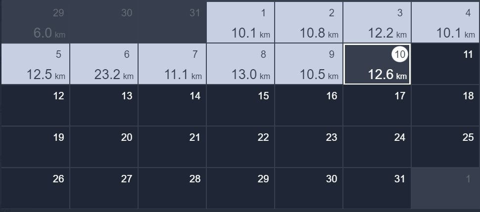 10日間連続で10kmラン&ウォーク