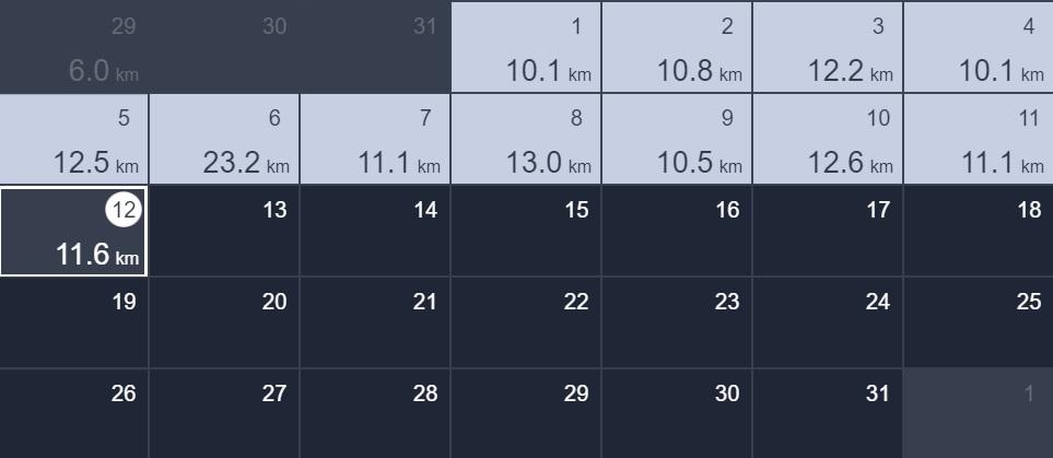 12日間連続で10kmラン&ウォーク