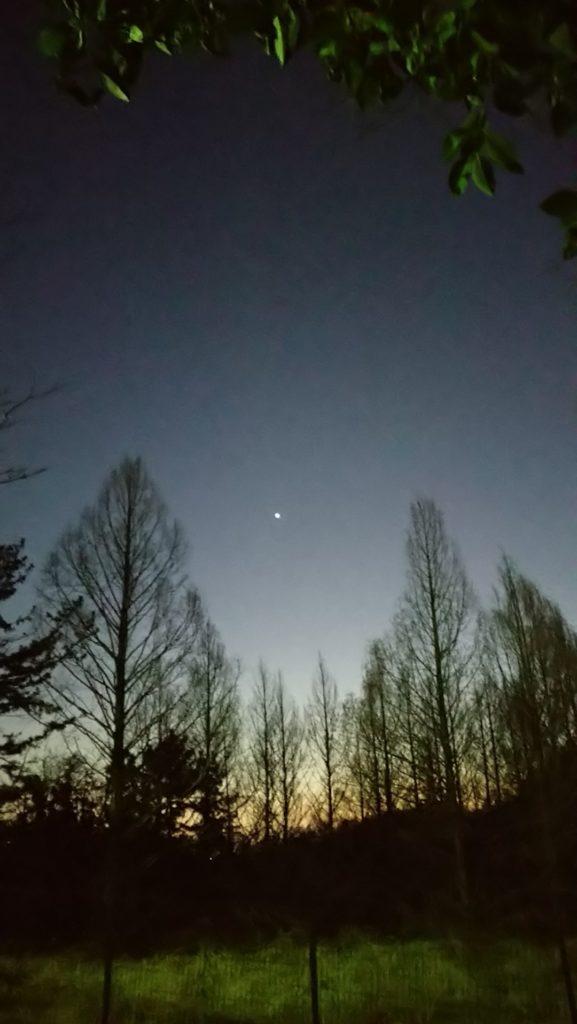 Xperia Aceで撮影した宵の明星