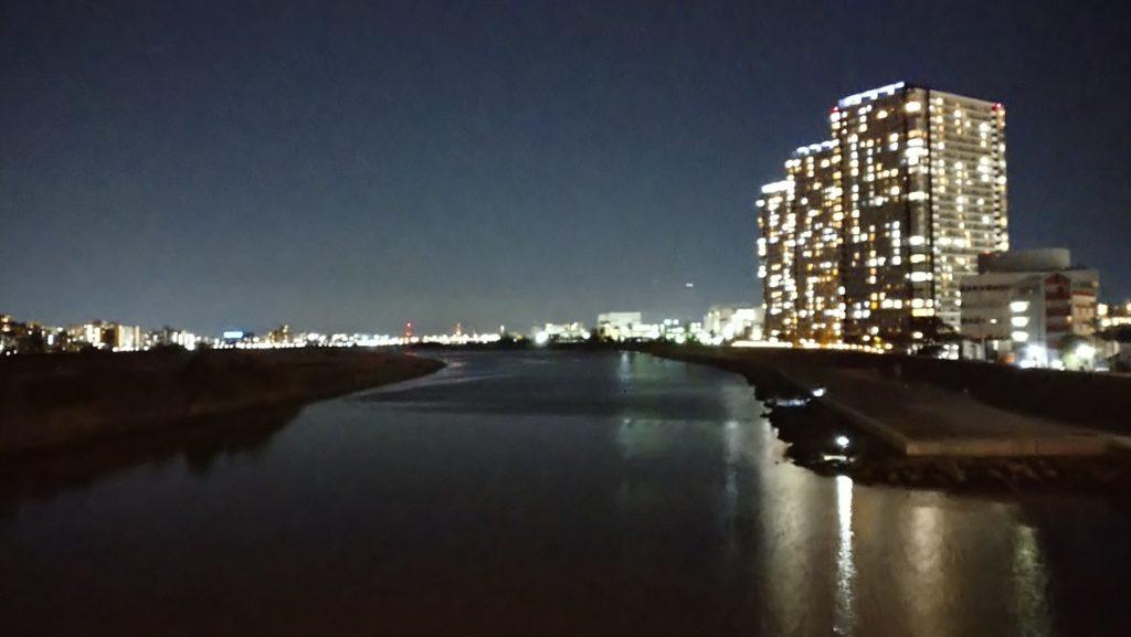 新六郷橋から多摩川を眺める