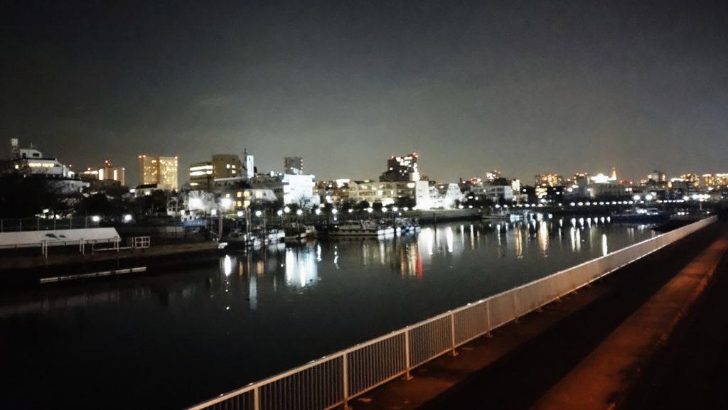 勝島運河の夜景