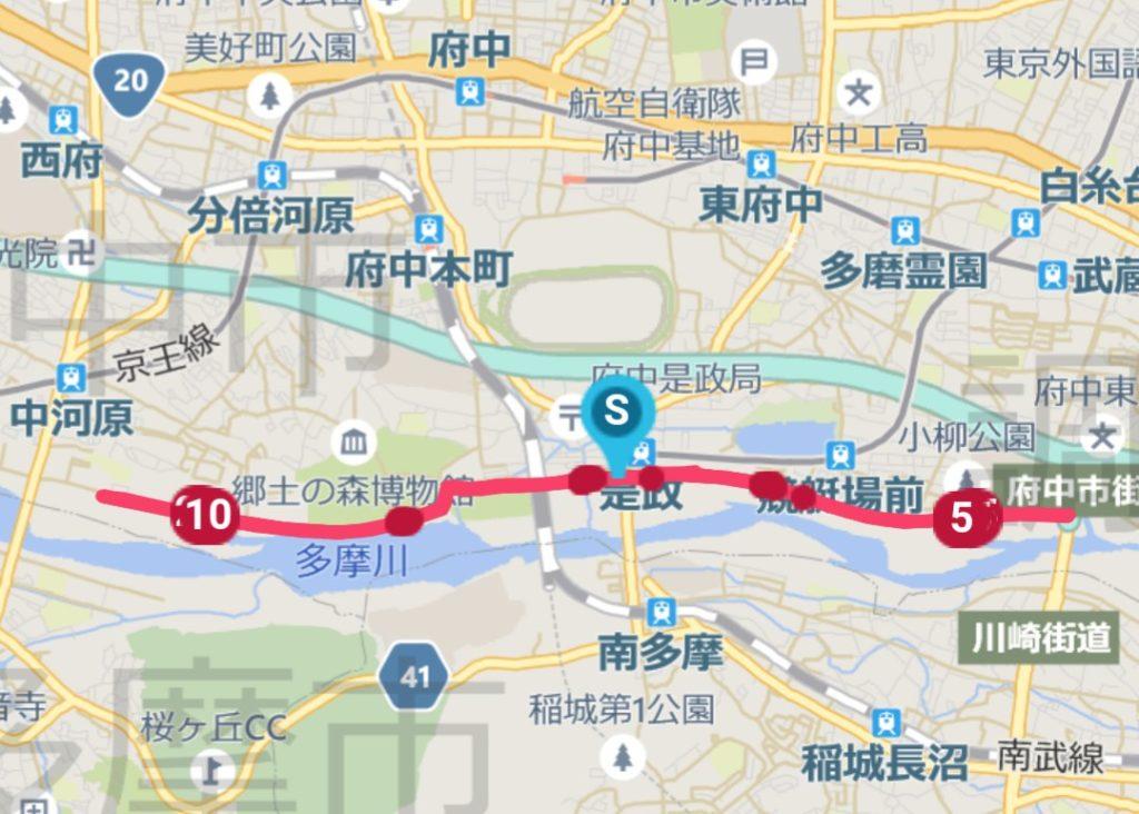 府中多摩川風の道マラソン202002