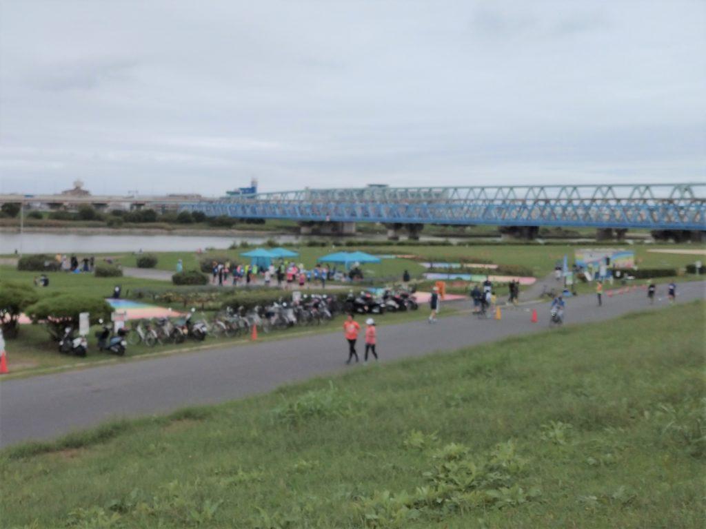 UPRUN足立区北千住荒川河川敷マラソン10kmの部