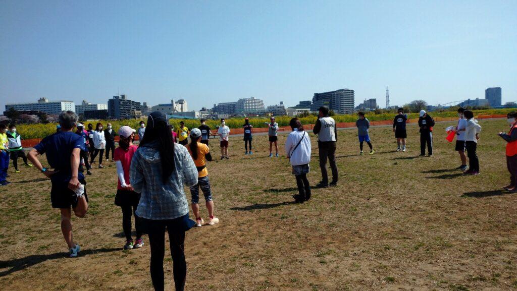 スポーツメイトラン川崎多摩川河川敷マラソン~ハーフの部に参加(神奈川県、2021年3月)