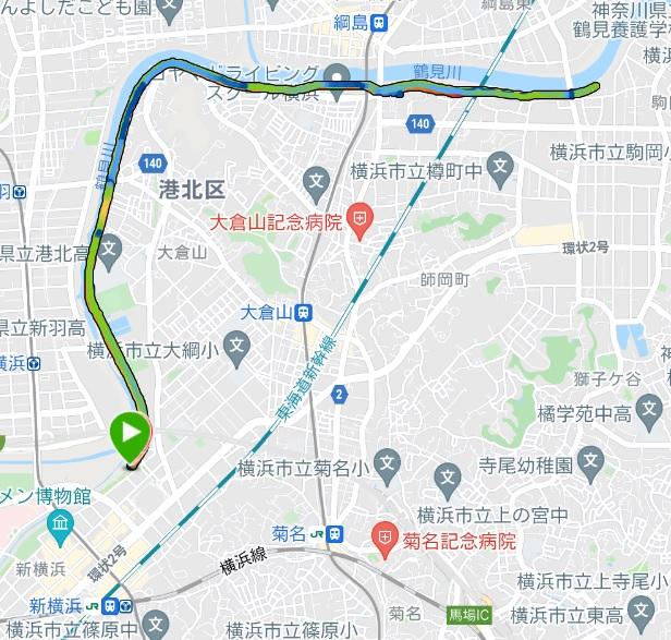 スポーツメイトラン新横浜鶴見川マラソン(神奈川県、2021年10月)~フルの部に参加